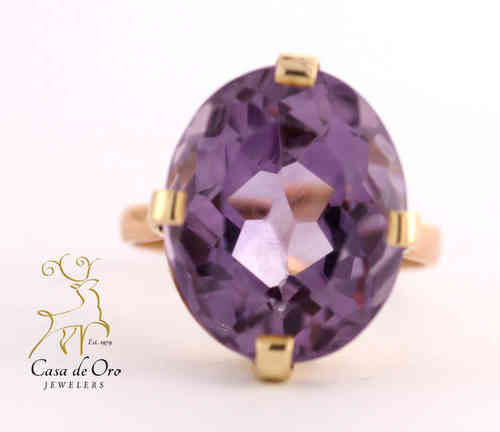 Amethyst Ring 18K Yellow