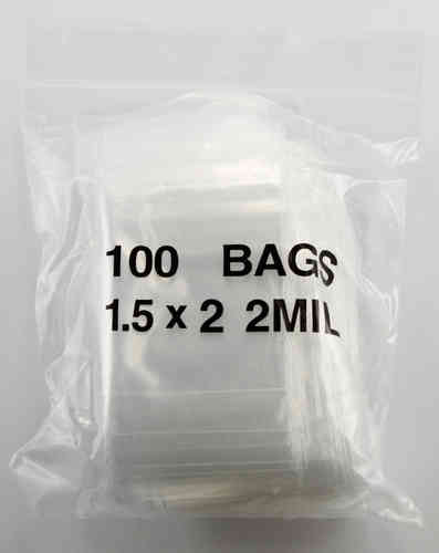 Plastic Zip Lock Bags - 1 1/2x2 - 1000pc