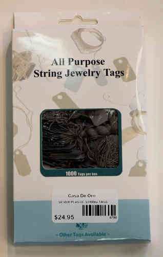 Price Tags - Silver String - 1000pc