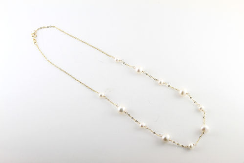 Freshwater Pearl Necklace 14K Yellow