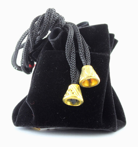 Black Draw String Pouch