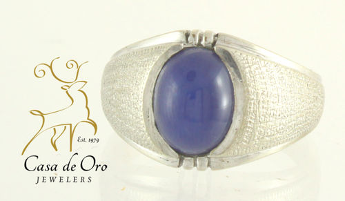 Star Sapphire (Linde) Men's Ring 10KW