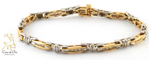 Diamond Bracelet 14K Two Tone