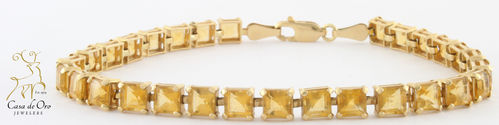 Citrine Bracelet 14K Yellow