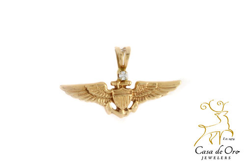Diamond Wings Pendant 14K Yellow