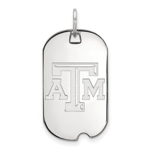 Texas A&M Small Dog Tag Sterling