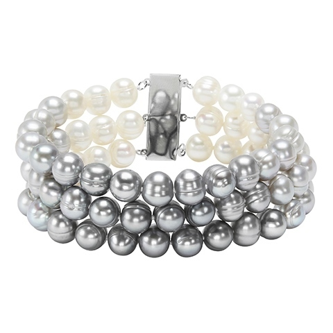 Honora Grey/White Ombre Pearl Bracelet