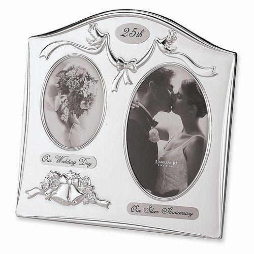 Silver-plated 25th Anniversary Photo Frame