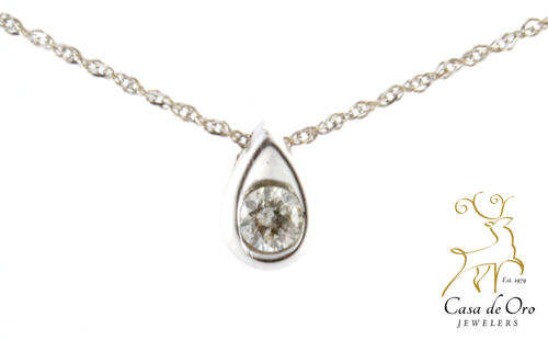 Diamond Pendant 14K White