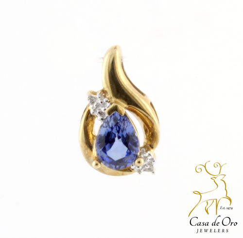 Tanzanite & Diamond Pendant 14K Yellow