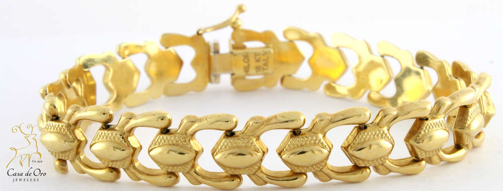 com propertyroom bracelet pin gram gold hollow yellow