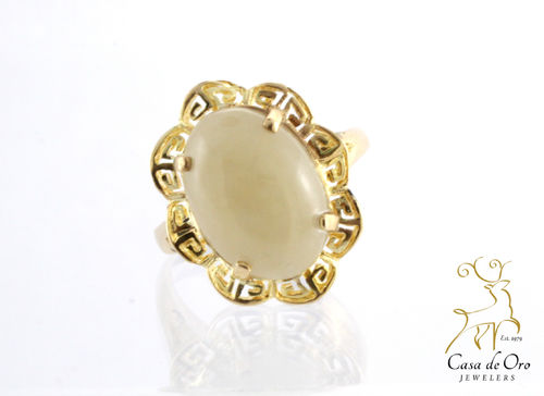 Jade Ring 14K Yellow