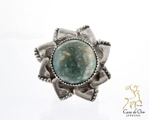Bloodstone Ring Sterling Silver