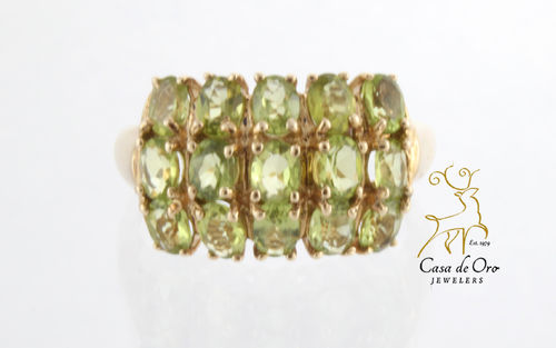 Peridot Ring 14K Yellow