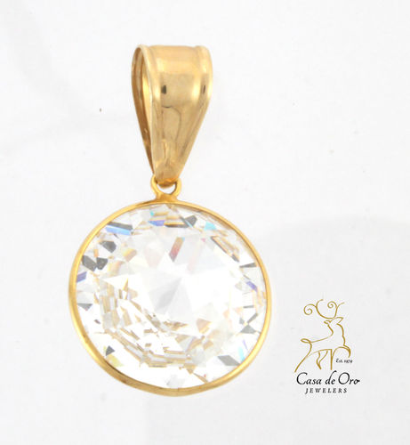 Crystal Pendant 14K Yellow