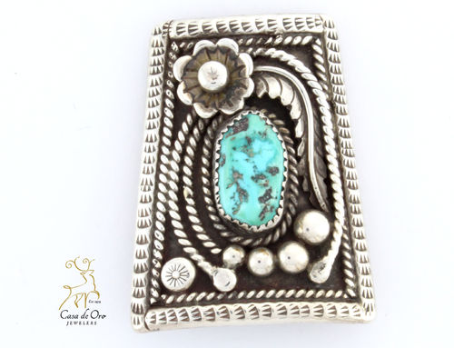 Sterling Silver Turquoise Bolo