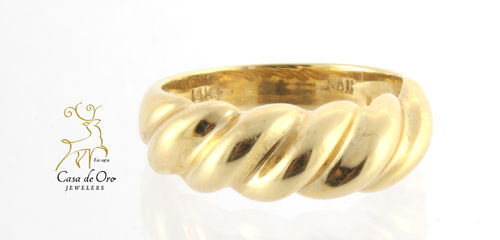 Gold Dome Ring 14K Yellow