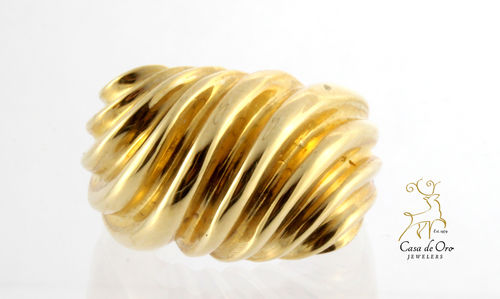 Gold High Dome Ring 14K Yellow