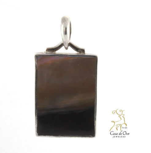 Black Lip Oyster Pendant Sterling Silver