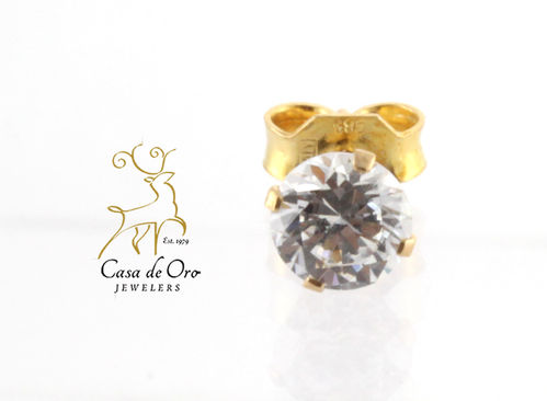 Cubic Zirconia Earring 14K Yellow