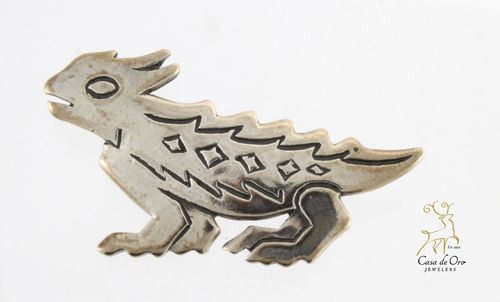 James Avery Sterling Horned Toad Pin