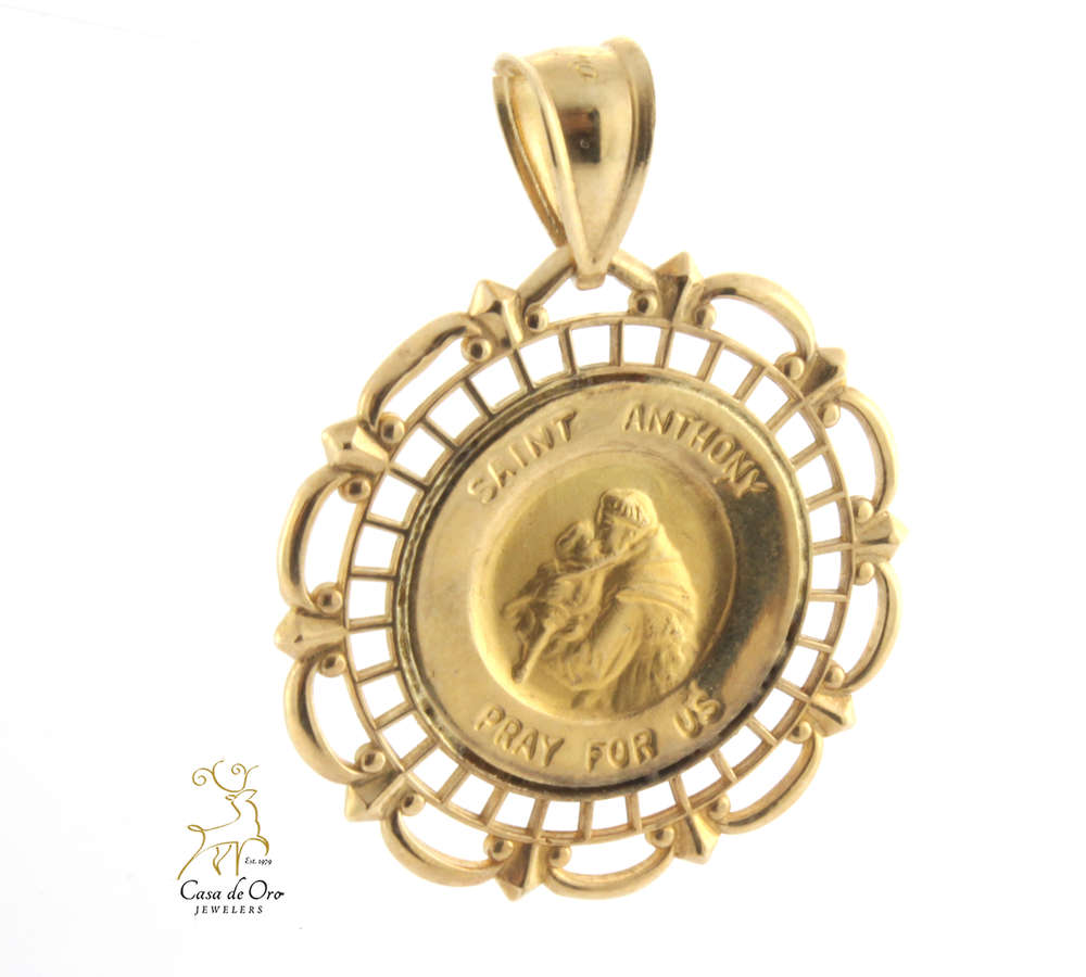 Gold st anthony medal 14ky casa de oro jewelers gold st anthony medal 14ky aloadofball Choice Image