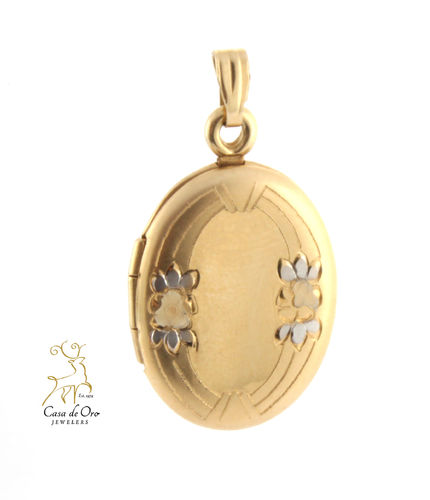 Gold Oval Locket 10K Yellow