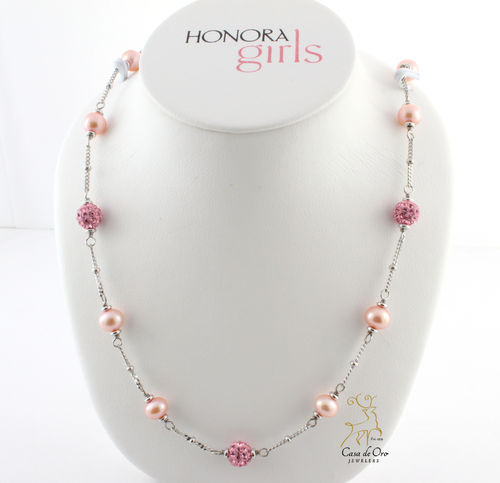 Honora Girls Pearl Necklace Sterling