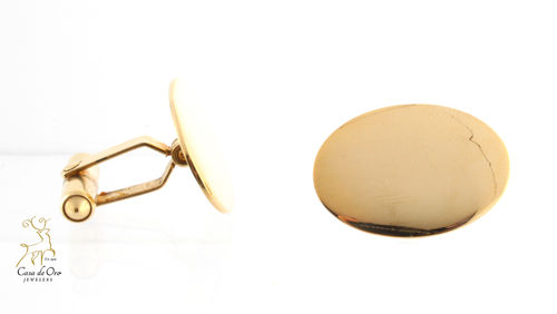 Gold Cuff Links 14K Yellow