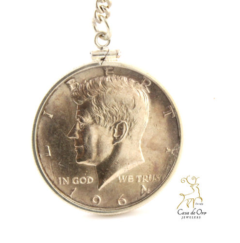 $.50 US Sterling Key Chain (Price+Coin)