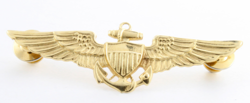 Navy Wings 14K Yellow Gold