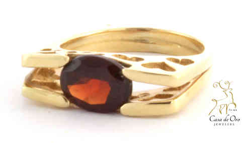 Garnet Ring 14K Yellow