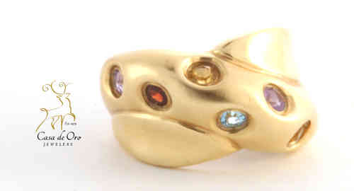 Multi-Stone Ring 14K Yellow