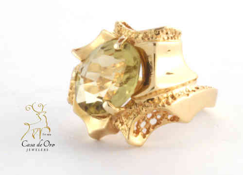 Quartz (Lemon) Ring 14K Yellow