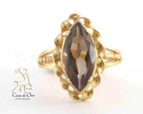 Quartz (Smoky) Ring 10K Yellow