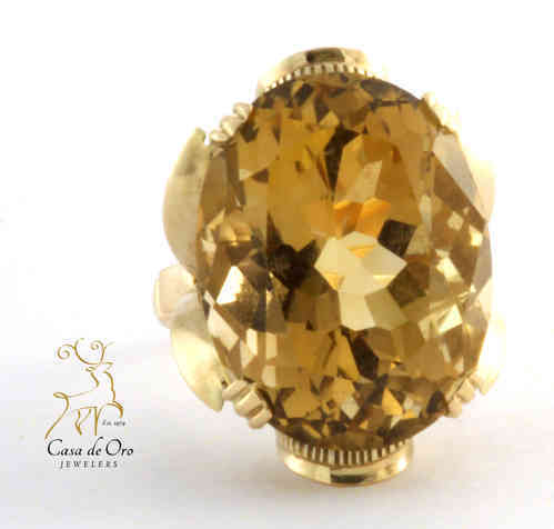 Quartz (Smoky) Ring 14K Yellow