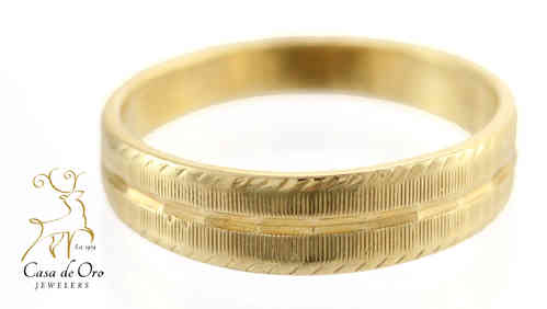 Gold Men's Wedding Band Band 14KY
