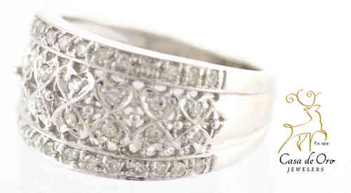 Diamond Band 14K White
