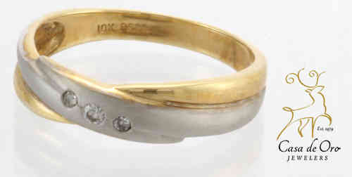 Diamond Men's Band 14K Two Tone