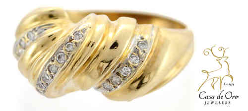 Diamond Dome Ring 14K Yellow