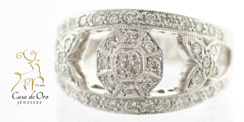 Diamond Ring 18K White