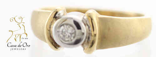 Diamond Men's Ring 10K Two Tone