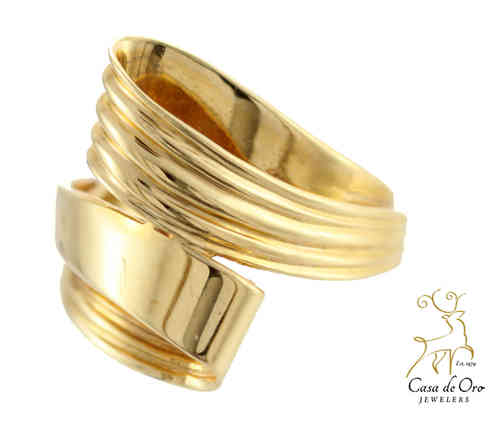 Gold By-Pass Ring 14K Yellow