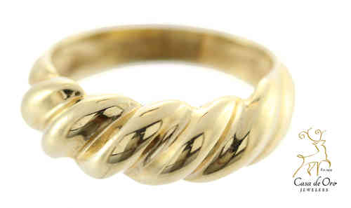 Gold Twist Ring 14K Yellow