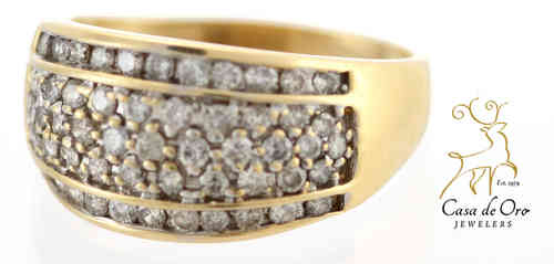 Diamond Band 10K Yellow
