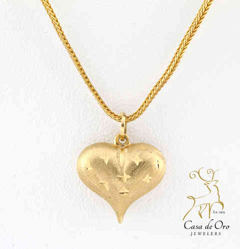 Gold Heart Pendant 14K Yellow