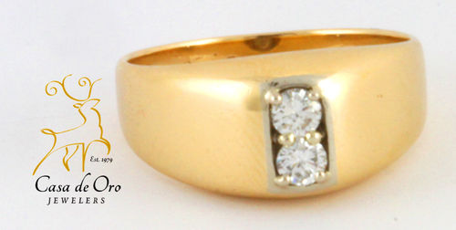Diamond Men's Ring 14K Yellow Gold