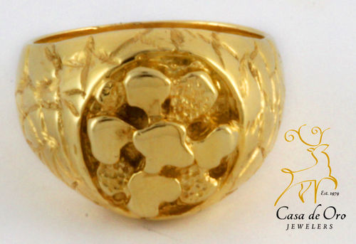 Gold Men's Nugget Style Ring 14KY