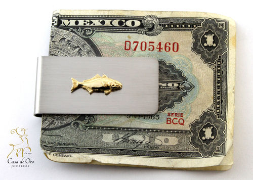 Stainless/14KY Amberjack Money Clip