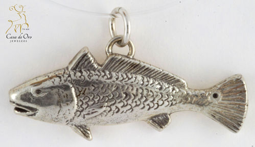 Sterling Silver Redfish Pendant